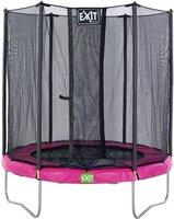Exit Trampolin Twist 244 cm mit Sicherheitsnetz rosa/grau