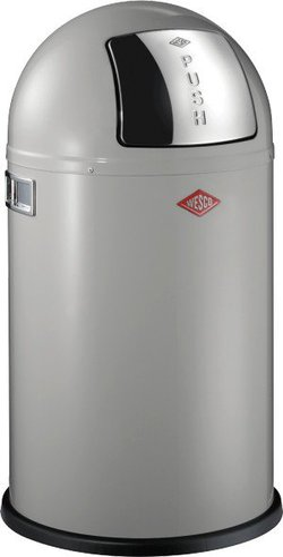Wesco Haushalt Pushboy 50L grau Metall weiß (175531-76)
