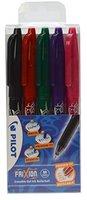 Pilot Pen Frixion Ball  0,7mm 5er Set schwarz/rot/grün/violett/pink