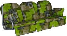 Angerer Deluxe Schaukelauflage für 3-Sitzer 180 x 50 cm Florenz grün