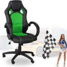 Miganeo Sportsitz Bürostuhl Racing-Design schwarz dunkelgrün (59811)