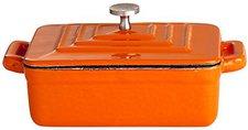 Paella World Gusstopf mit Deckel 12 x 9 x 4.5 cm (orange)