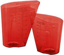 Koziol Messbecher Set 0,5 & 1 Liter DOSIS rot