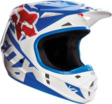 Foxracing V1 Race weiß/blau