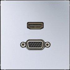 Jung Multimedia-Anschluss 2-fach aluminium (MAAL1173)