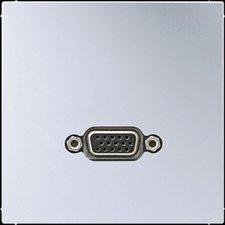 Jung Multimedia-Anschlusssystem 1-fach aluminium (MAAL1102)