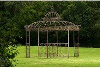 CLP Trading GmbH Luxus Pavillon Romantik rund (Ø 3,45m) bronze