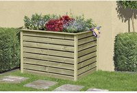Delta Gartenholz Hochbeet Kiefer 125 x 85 x 80cm