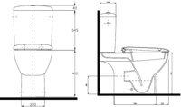 Ceravid Cavea Tiefspül-WC-Kombination (C48320000)