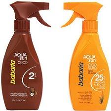 Babaria Aqua Sun Coconut SPF 2 Aqua Spray + Non-Greasy Aloe Vera SPF 25 (2 x 300 ml)