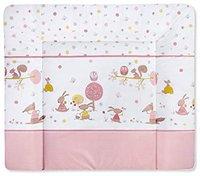 Zöllner Wickelauflage Softy Folie Happy Animals rosa 75 x 85
