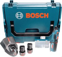 Bosch GRO 10,8 V-LI Professional (2 x 2,5 Ah Akku in L-Boxx + 1/2 L-Boxx Einlage)