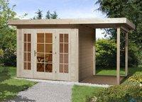 weka Holzbau Gartenhaus 172 A Gr.2 mit Anbau (445 x 299 cm)