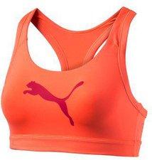 Puma Training Damen PWRSHAPE Forever Sport-BH fluro peach-cat graphic