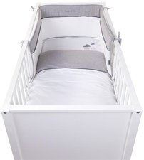 Childhome Nestchen Bett Kopfschutz 35x170 Jersey Clear White (CCBPJCW)