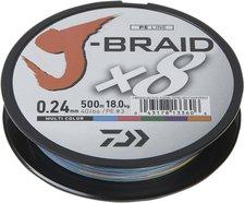 Daiwa J-Braid X8 multi color 300m 0,20mm
