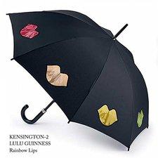 Lulu Guinness Red Cut Out Lips Umbrella