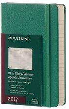 Moleskine 12 Monate Tageskalender A6 hardcover 2017 grün