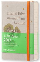 Moleskine 12-Monate Der Kleine Prinz Tageskalender   2017 (A6)