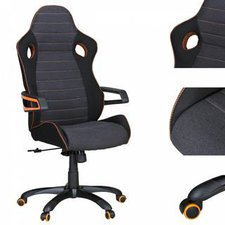 Amstyle Alonso Chefsessel schwarz/orange