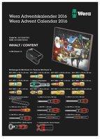 Wera Werkzeug-Adventskalender 2016