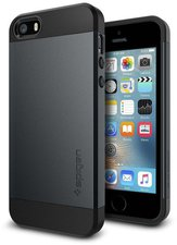 Spigen SGP Slim Armor Case (iPhone SE/5s/5) metal slate