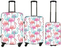Saxoline Flamingo Trolley Set 55/67/77 cm
