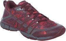 The North Face Litewave Ampere Women deep garnet red triangle party print/melon red