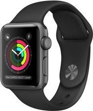 Apple Watch Series 2 Aluminium grau mit Sportarmband schwarz