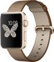 Apple Watch Series 2 Aluminium gold mit Nylonarmband braun
