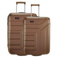 Travelite Vector 2.0 Upright Set 64/73 cm brown