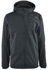 CMP Campagnolo Man Softshell Jacket Zip Hood (3A40537) Nero