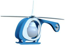Elobra Hubschrauber 1-flg. weiß/hellblau