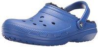 Crocs Classic Fuzz Lined Clog cerulean blue/navy