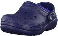 Crocs Kids Fuzz Lined Clog navy/cerulean blue