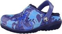 Crocs Kids Fuzz Lined Graphic Clog blue camo