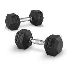 Capital Sports Hexbell Dumbbell Kurzhantel Paar 2 x 10kg