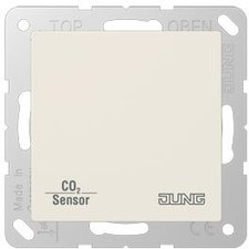 Jung CD RTR mit CO2/Luftfeuchte-Sensor KNX cremeweiß (CO2 A 2178)