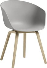 HAY About A Chair AAC22 (concrete grey) (Gestell Eiche lackiert)
