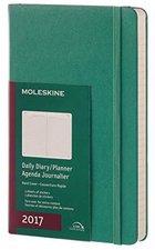 Moleskine 12 Monate Tageskalender A5 hardcover 2017 grün