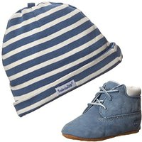 Timberland Crib Bootie with Hat blue