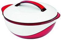 Maxx-World 06499 Thermoschüssel metallic 1100 ml rot weiß