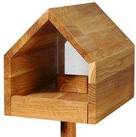 Dobar Luxus-Vogelfutterhaus Eichenholz mit Ständer