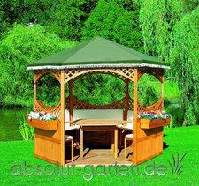 Promex Gartenideen Pavillon Palma mit grünem Foliendach