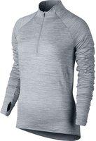 Nike Sphere Element Langarm-Laufoberteil mit Halbreißverschluss für Damen (686963) wolf grey / heather / wolf grey