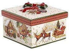 Villeroy & Boch Christmas Toys Geschenkpaket mittel eck.Weihnachtsmarkt 16x16x10cm