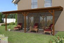 Skanholz Pisa impr. Nadelholz, 700 x 350 cm, nussbaum