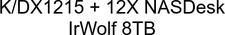 Synology DX1215 96TB