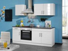 Held Möbel Nevada Küchenzeile mit Elektrogeräten (210 cm)