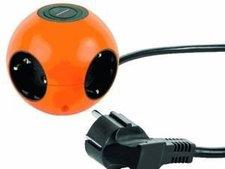 REV Kugelsteckdose Powerglobe 4-fach orange/schwarz (0015420903)